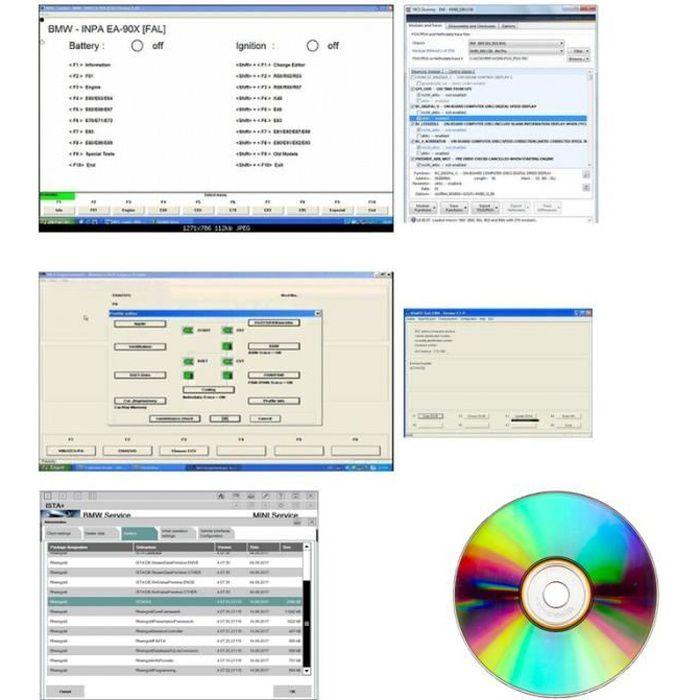 Pack Diagnostic Auto Pro - Compatible avec B.M.W et Mini - INPA 5.0.6 NCS Expert NCS Dummy EDIABAS ISTA-P & ISTA-D RHEINGOLD
