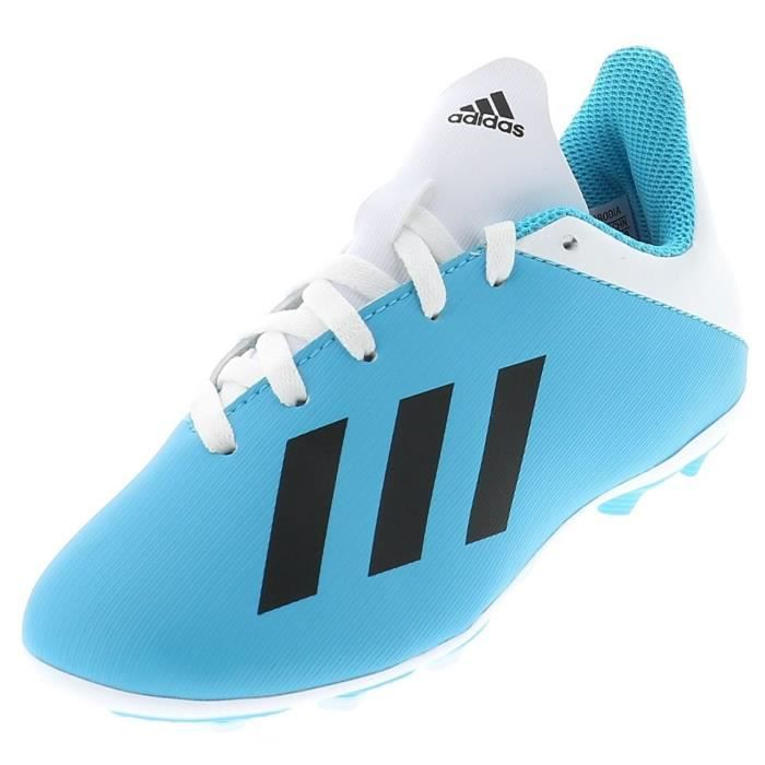 Chaussures football lamelles X19.4 fxg jr blc ciel - Adidas