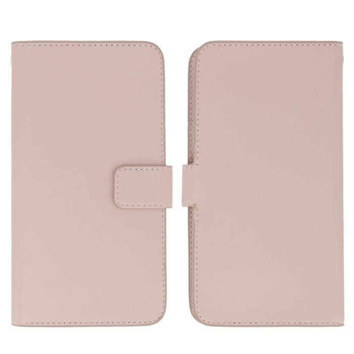 Muvit - Housse portefeuille Rose universel Slide Cover Taille XL