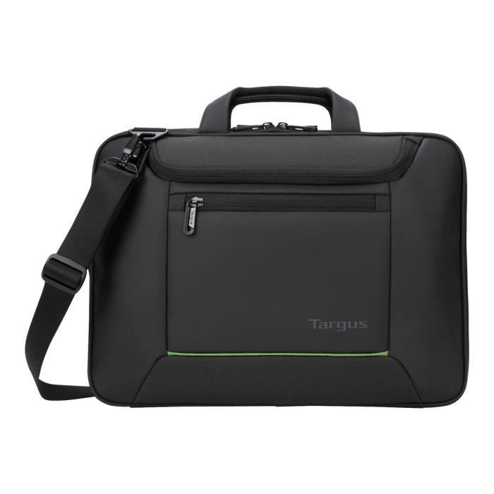 TARGUS Sacoche EcoSmart Balance Briefcase - Pour ordinateur portable - 14- - Noir