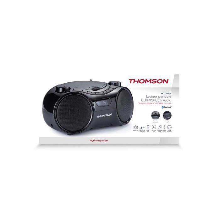 Radio CD MP3 portable RCD 210uBT Thomson
