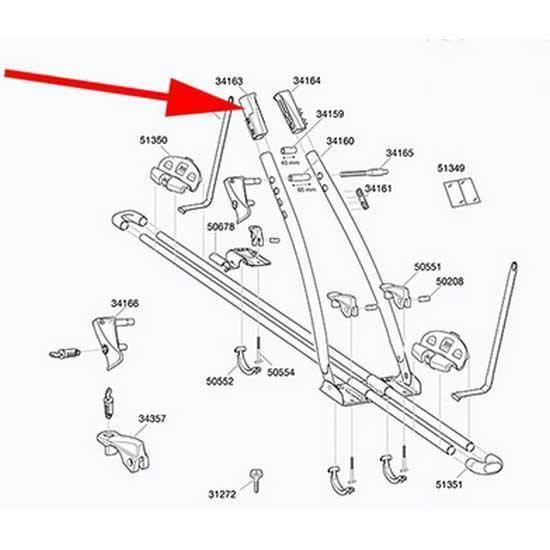 Transporteurs Pièces détachées Thule Replacement Frame Clamp Part 34163 Left Freeride 532 - 575 - Taille Unique - Noir