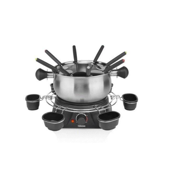 Tristar - fondue 1400w 8 fourchettes inox-noir - fo1109