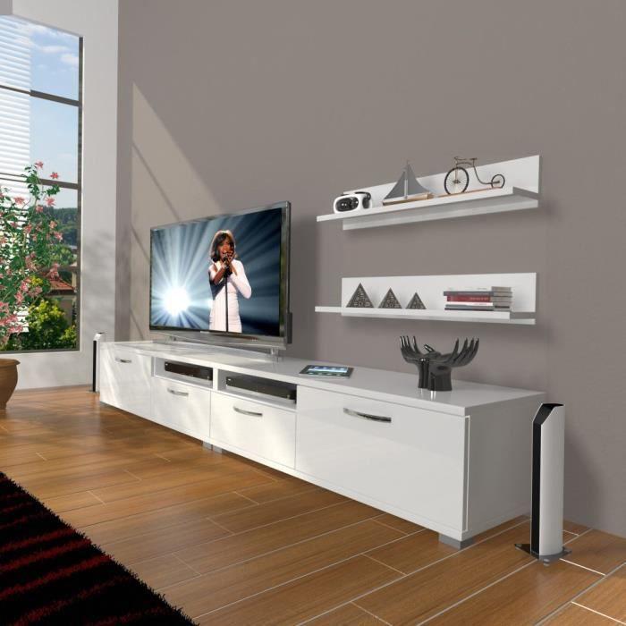 Meuble Tv Contemporain Double 220 Cm Banc Tv Meuble De Salon Achat Vente Meuble Tv Meuble Tv 18682109200889 C Cdiscount