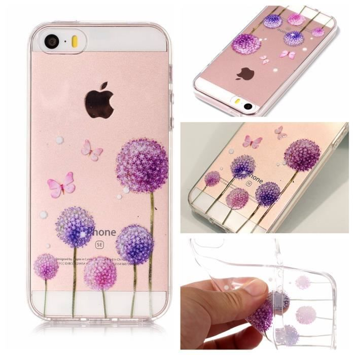 coque iphone 5s se 5 silicone clair transaprent tp