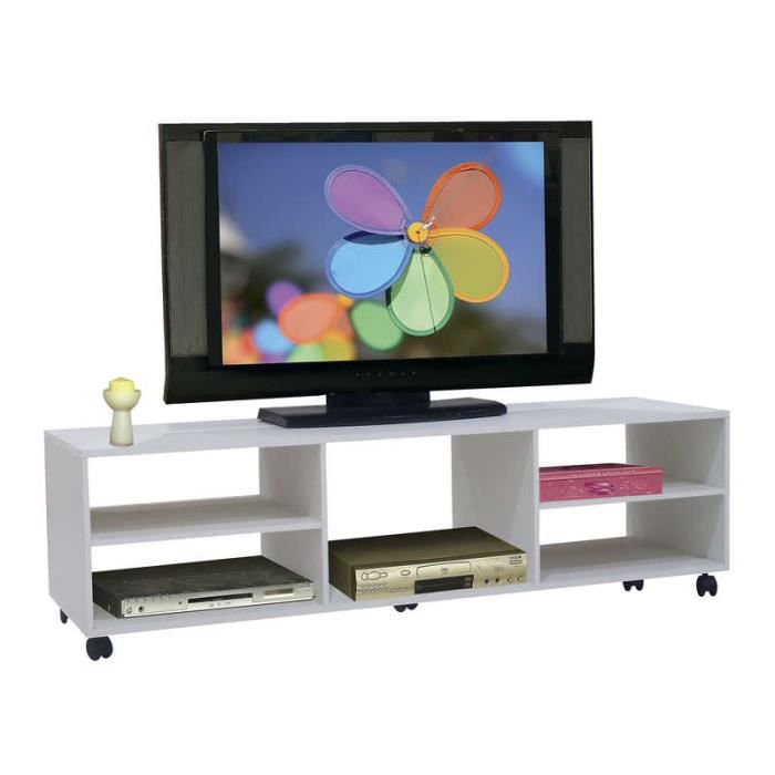 meuble tv bas poser 30 cm blanc papier achat vente living meuble tv meuble tv bas. Black Bedroom Furniture Sets. Home Design Ideas