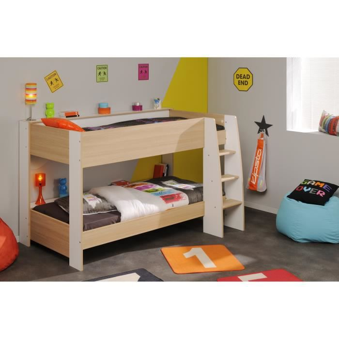 lits superpos s 90x200 cm charlyne achat vente lits superpos s cdiscount. Black Bedroom Furniture Sets. Home Design Ideas