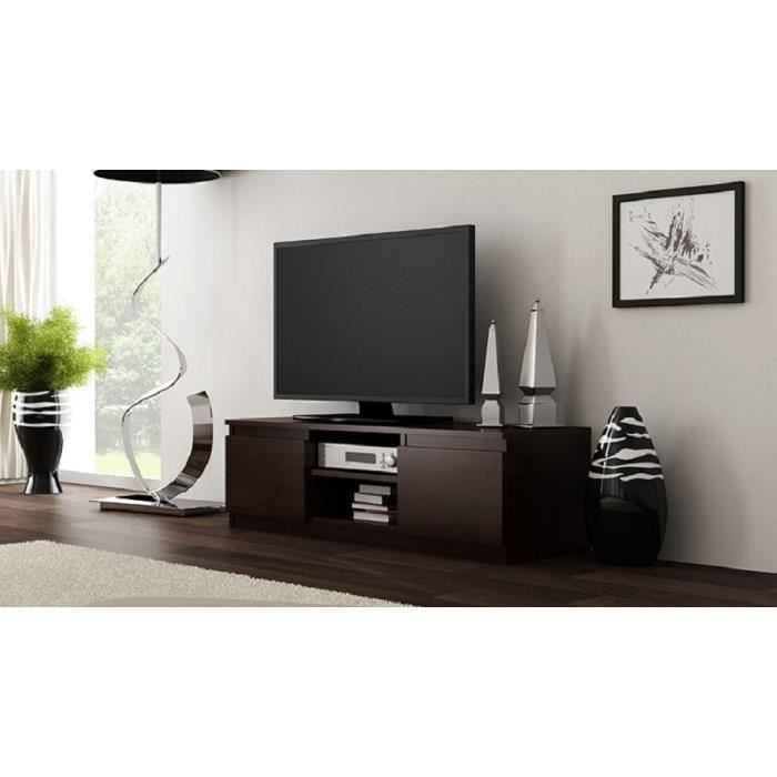 meuble tv clino wenge mat achat vente meuble tv meuble tv clino wenge mat cdiscount. Black Bedroom Furniture Sets. Home Design Ideas