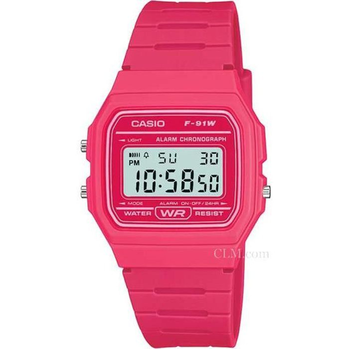 Montre Casio Vintage Rose FLuo Rose,