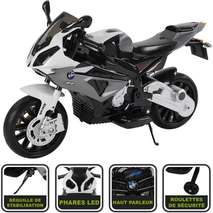 moto lectrique gris 12v licence bmw achat vente moto scooter cdiscount. Black Bedroom Furniture Sets. Home Design Ideas