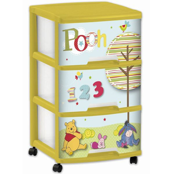 tour de rangement 3 tiroirs winnie l 39 ourson achat vente boite de rangement cdiscount. Black Bedroom Furniture Sets. Home Design Ideas