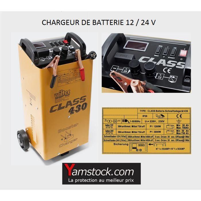 CHARGEUR DE BATTERIE Chargeur de batterie voiture , camion 12v / 24v BO