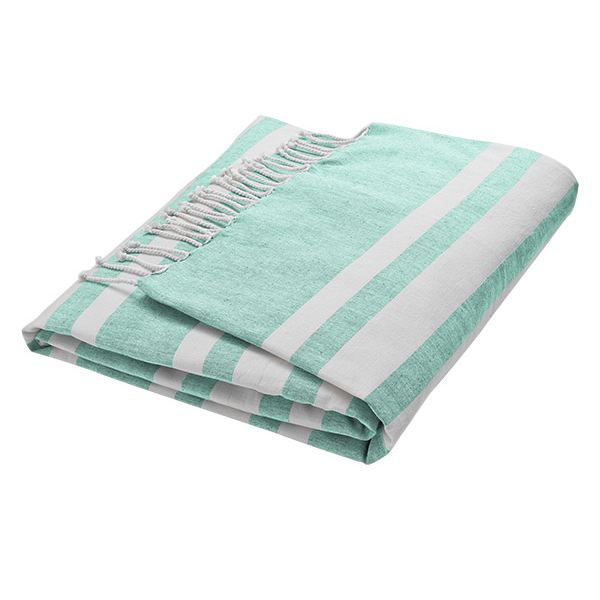 serviette de plage fouta vert menthe 100x200cm achat vente serviette de plage fouta ve. Black Bedroom Furniture Sets. Home Design Ideas