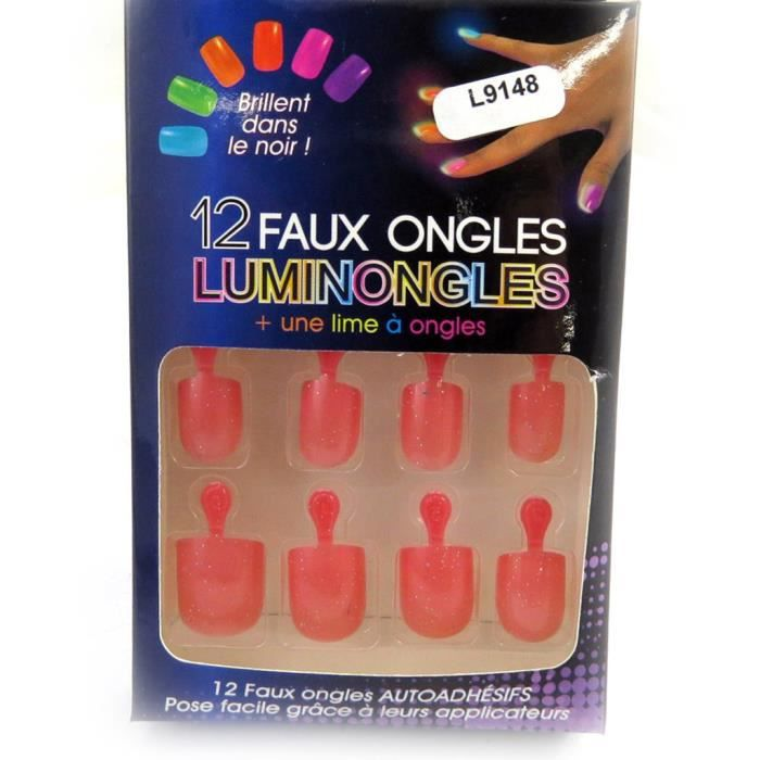 planche de faux ongles luminongles rose rouge achat. Black Bedroom Furniture Sets. Home Design Ideas