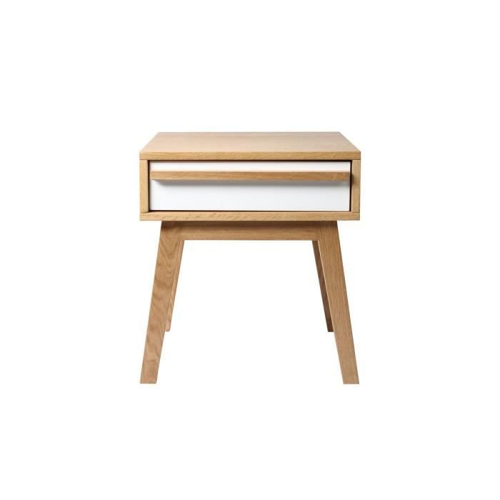Miliboo table de chevet design scandinave helia achat vente chevet heli - Cdiscount table de chevet ...