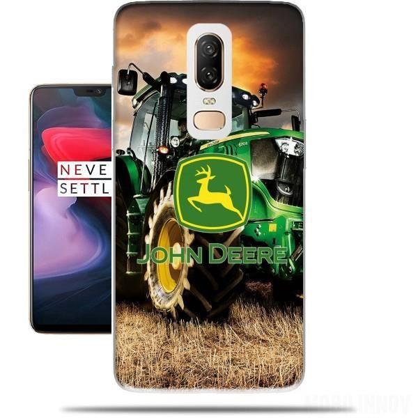 Coque OnePlus 6 rigide motif John Deer Tracteur vert de protection ...