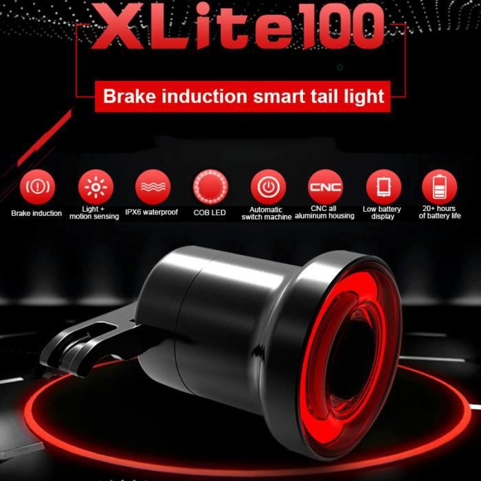 Lampe de Vélo DEL Feu arrière SMART Sense éclairage Lumière Etanche USB ipx6