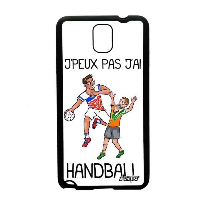 Coque Note 3 silicone j'peux pas j'ai handball swa