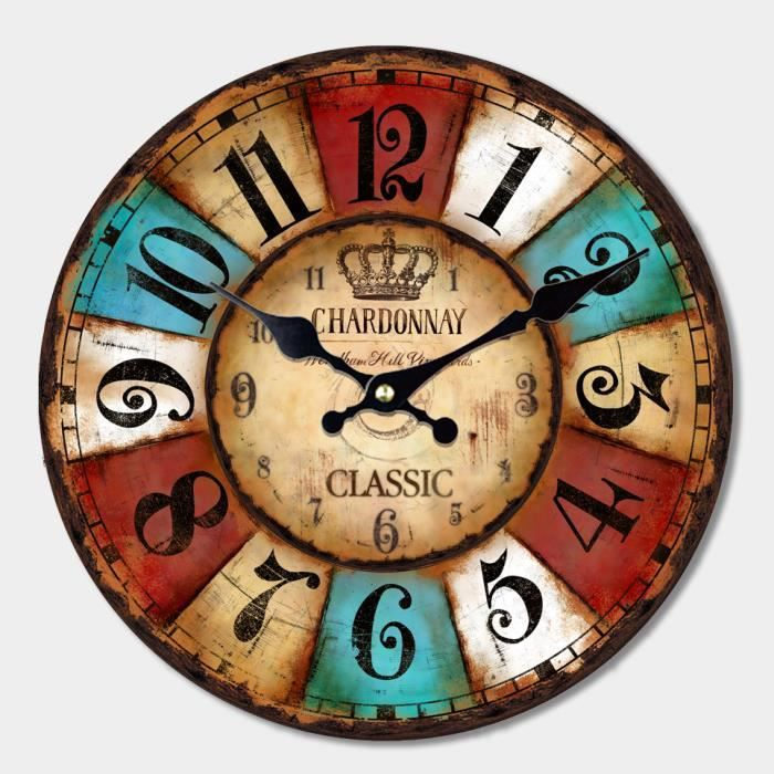 horloge silencieux horloge murale d coration creative non piles fournies wall art cadeau. Black Bedroom Furniture Sets. Home Design Ideas