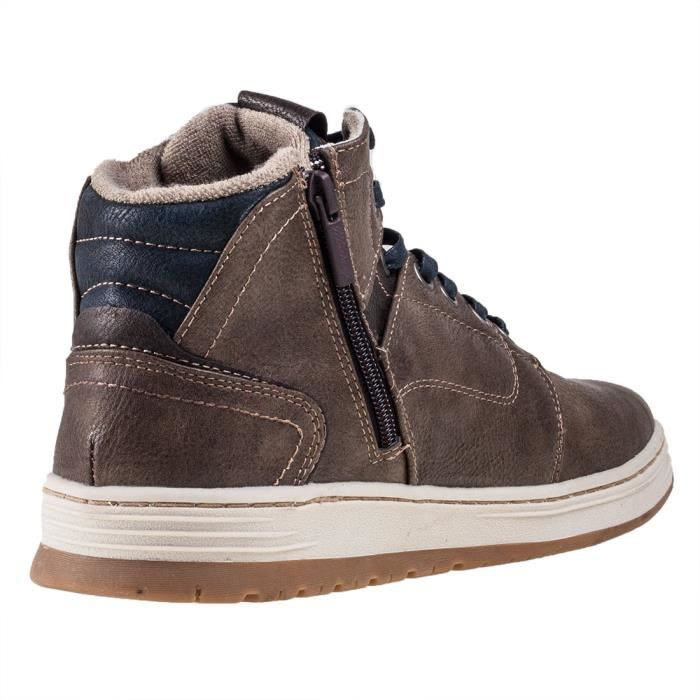 Mustang Side Zip Sneaker Medium Brown Hommes Bottes chukka marron - 46 EU