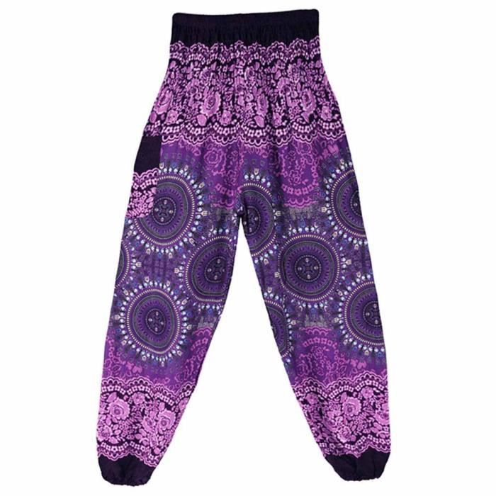 Taille Violet Smock Femmes Hippy Pantalons Haute Lafayestore®hommes Yoga Cqq122933pp Sarouels Festival zf51 Thai Boho wpxFx87fq