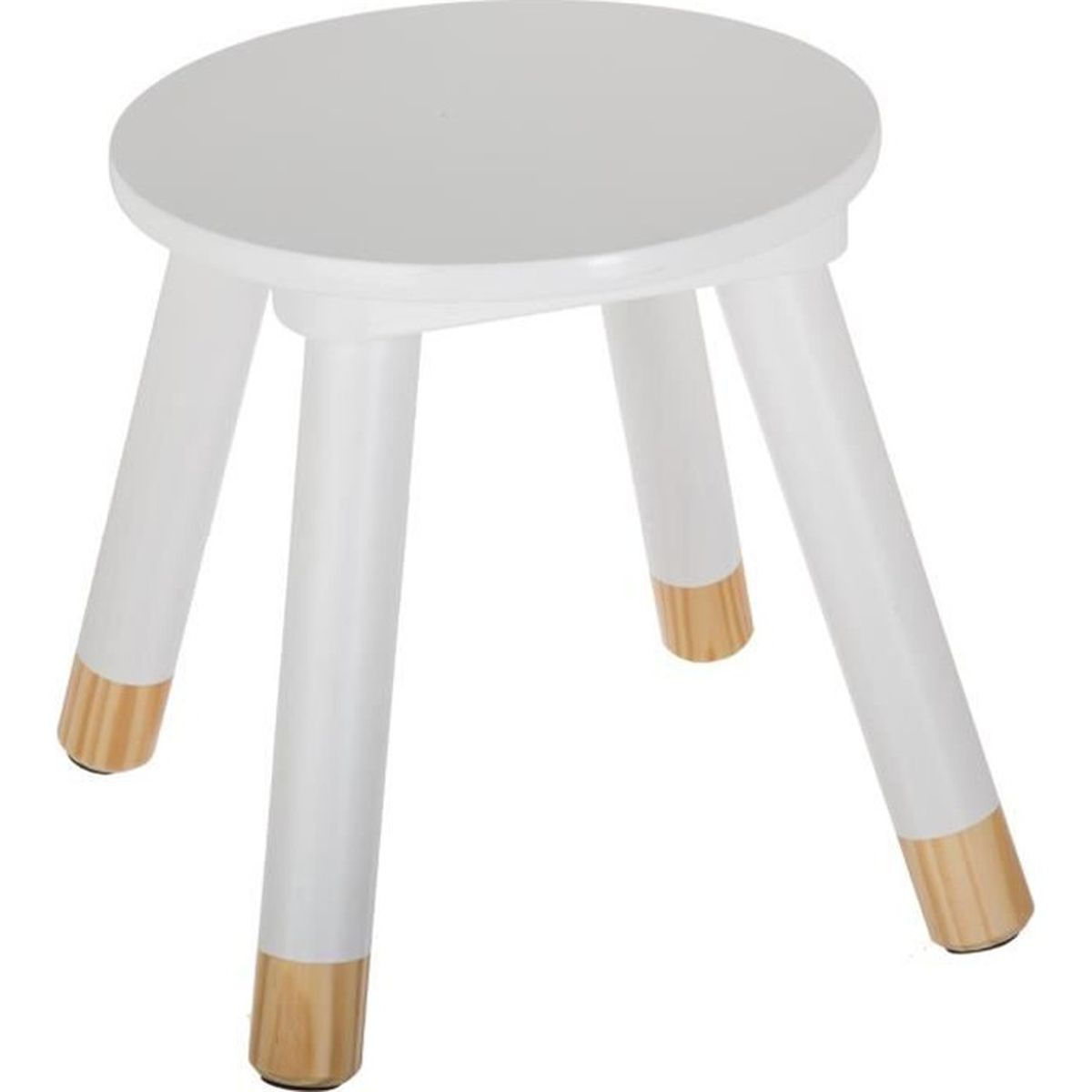 tabouret en bois pour enfants blanc blanc achat vente tabouret cdiscount. Black Bedroom Furniture Sets. Home Design Ideas