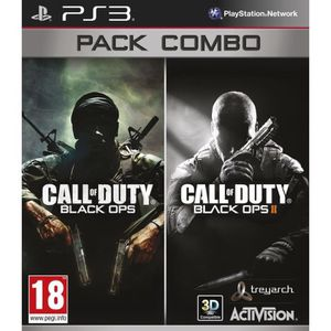 JEU PS3 Pack Combo Call Of Duty Black Ops  + Black Ops 2 J