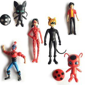 FIGURINE - PERSONNAGE Lot de 6 Pcs Figurine Personnage Miraculous Ladybu