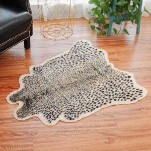 TAPIS Tapis de sol en peau de vache zèbre léopard avec t