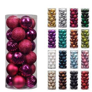 36 Mini boules de 3 cm violet MATT Festif arbre pendaison décoration ornement