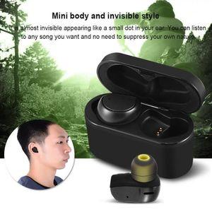 CASQUE - ÉCOUTEURS MC Mini Écouteurs Bluetooth  Invisible  Sans Fil I