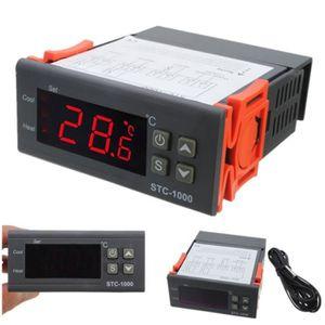 220V Thermostat contrôleur de température numérique STC-1000 NTC K