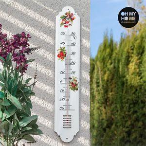 THERMOMÈTRE - BAROMÈTRE Thermometre Exterieur Jardin XL Mural Décoratif à