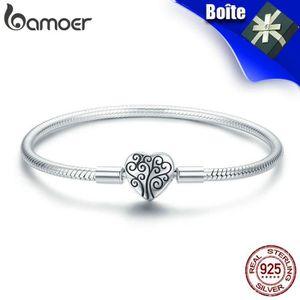 BRACELET - GOURMETTE BAMOER Bracelet 925 Argent Pour Pandora Charms Ouv