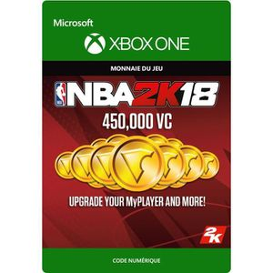EXTENSION - CODE DLC NBA 2K18: 450 000 VC pour Xbox One