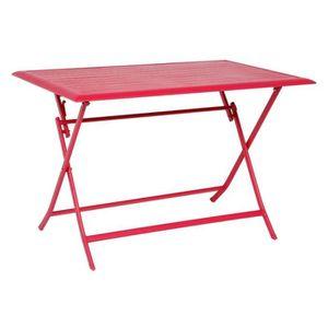 TABLE DE JARDIN  TABLE AZUA HESPERIDE PLIANTE ALU CERISE 4 PLACES