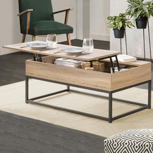 TABLE BASSE Table basse plateau relevable DETROIT design indus