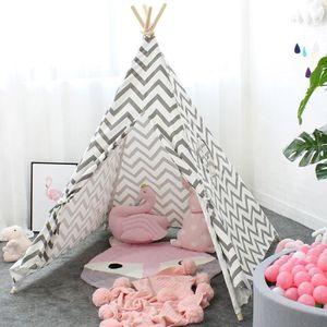 TENTE TUNNEL D'ACTIVITÉ Tente Enfant Intérieur Tent Tipi avec Coton Textil