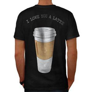 T-SHIRT je Amour Toi Latté Mode Men  T-shirt à col en V  
