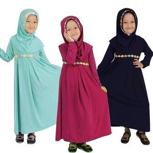 ROBE 1-6 Ans Enfant Fille Robe Longue Musulman Islamiqu