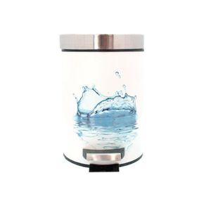 POUBELLE - CORBEILLE Poubelle à pédale en métal Décor water spray - Dim