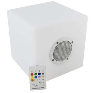 ENCEINTE NOMADE Cube enceinte à LED bluetooth en plastique Multico