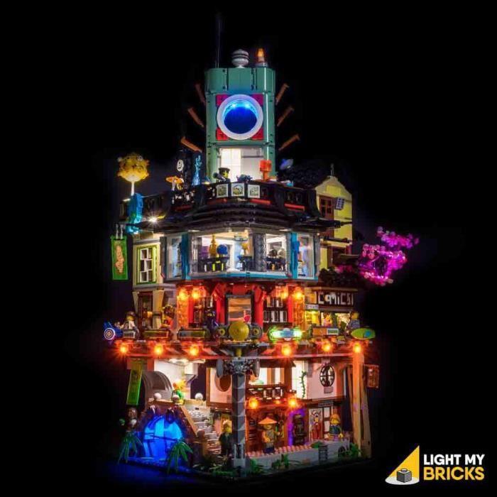 Kit Light My Bricks Lumières Pour LEGO Ninjago City Docks 70657 - Jeu de construction