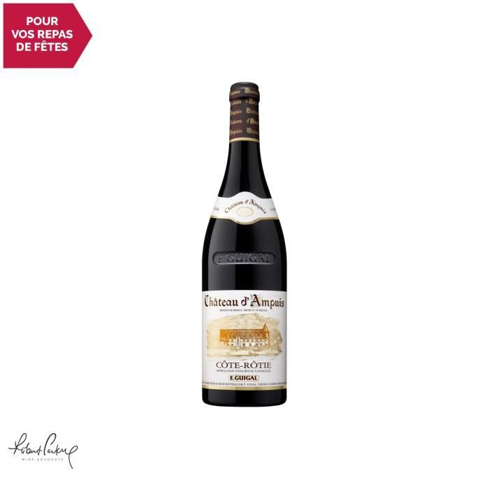 Côte Rôtie Château d'Ampuis Rouge 2016 - 75cl - Maison Guigal - Vin AOC Rouge de la Vallée du Rhône - 92-94-100 Robert Parker -