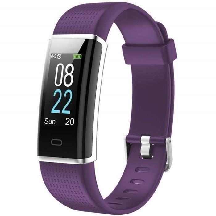 Montre Connectée Homme Femme Enfant Smart Watch Smartwatch Sport Running Pour Iphone Huawei Samsung Xiaomi Sony Pourpre -