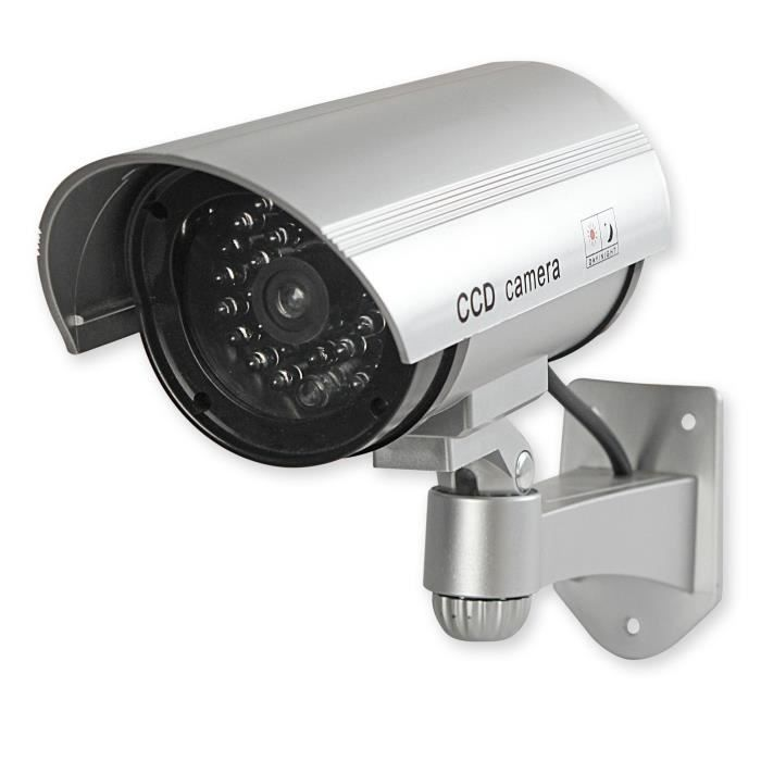 KONIG Caméra Factice de Surveillance - Intérieur / Extérieur - LED Rouge