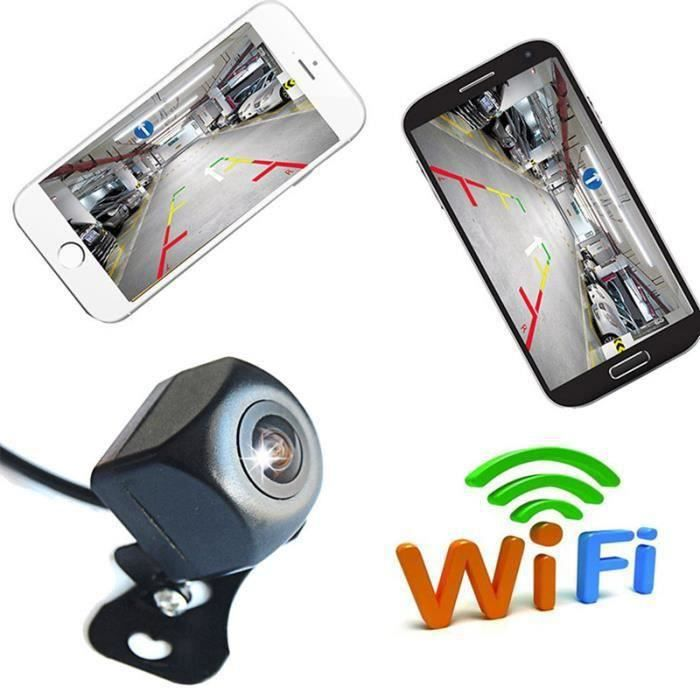 Caméra de Recul wifi voiture sans fil caméra de recul de recul HD vision nocturne grand angle angle mort caméra de traction arrièr