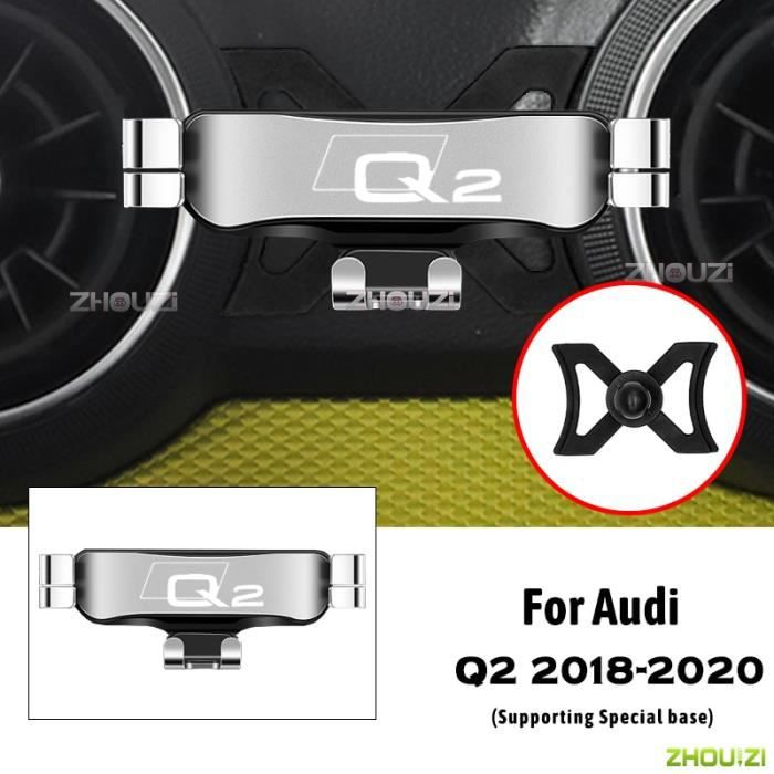 Accessoires Voiture,Support de téléphone portable de voiture, supports de ventilation spéciaux, support - Type For Audi Q2 Silver