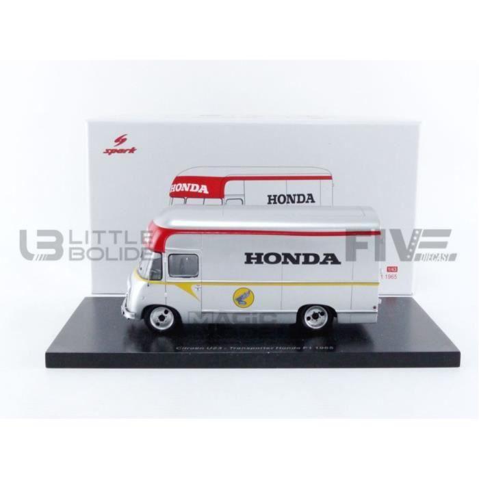 Voiture Miniature de Collection - SPARK 1/43 - Transporteur Honda - F1 1965 - Gris - S5948