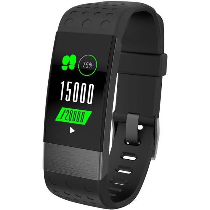 WEESENSE - Bracelet connectée Fitness Bluetooth, fréquence cardiaque, suivi d'activité étanche IP67 WEEFIT couleur - Gris